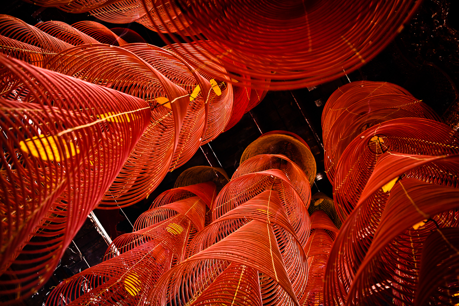 Incense coils, Can Tho, Vietnam