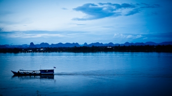 View of Laos from Thailand